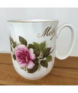 Vintage Duchess England Pink Rose Gold Rim Bone China Mother Tea Cup Cof... - $19.13