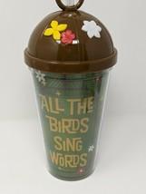 Enchanted Tiki Room All The Birds Sing Words Plastic Tumbler Disney Parks - $29.99