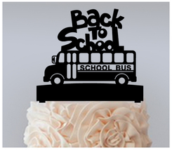 Decorations Cake topper,Cupcake topper,silhouette Back to school Package 11 pcs - $20.00