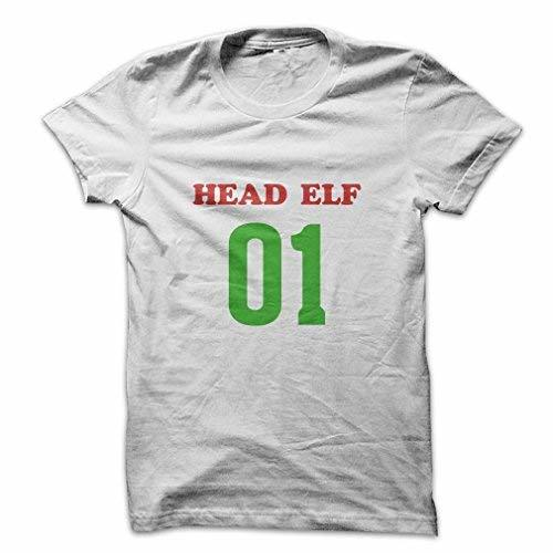Mad Over Shirts Head Elf 01 Men's Large White T Shirt