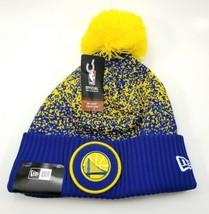 Golden State Warriors New Era Knit Hat. NBA 2017 On Court Beanie Cap Yel... - $31.07