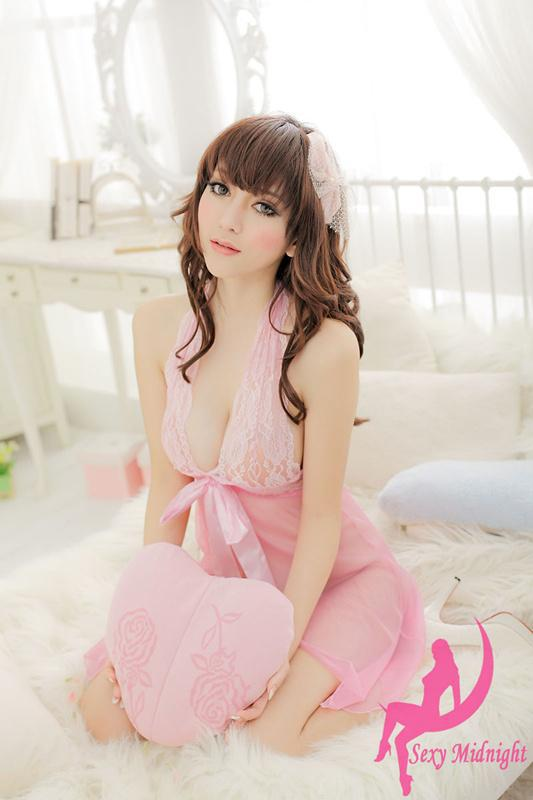 """8144 Stunning & neck hatler baby doll, Free size, fit to size 32-35"""" black image 4"""