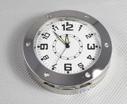 Mini Camera Clock Pendulum Video Recorder Silver Pinhole Surveillance 72... - $24.59