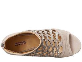 MICHAEL Michael Kors Women's Yvonne Open Toe Bootie, Grey Size 6.5, 7 image 5