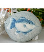 Fish Pottery Ceramic Rock Stone Paperweight Han... - $9.95