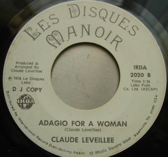 Claude Leveille - If Tonight / Adagio For A Woman - Les Disques Manoir 2020