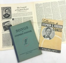 Vintage Stephen Foster Song Book Lot Music Booklet University of Pittsbu... - $14.21