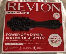REVLON One-Step Hair Dryer And Volumizer Hot Air Brush, Black - $39.95