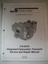 hydro-gear 310-0410 integrated hydrostatic transaxle service & repair manual 29p - $13.83