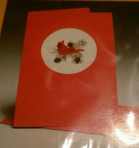 CREATIVE CIRCLE 2262 Winter Cardinal Cross Stitch Greeting Card Rochelle... - $26.10