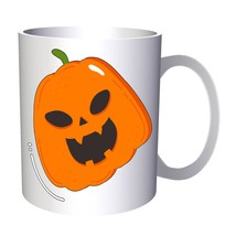 Scary Halloween Pumpkin 11oz Mug q172 - $203,52 MXN
