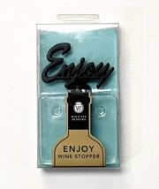 "Wild Eyes Designs ""Enjoy"" Wine Bottle Stopper - Black - $9.79"