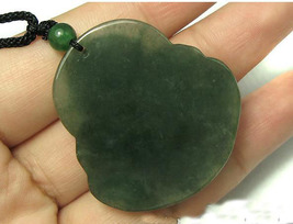 Amulet Natural Oily Green Buddha Jadeite Jade Pendant image 5