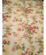 Vintage Ralph Lauren Home Burgess Park Floral Yellow Fabric 4 Yards Disc... - $163.28