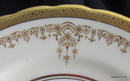 "Encrusted Gold Gilt 7 1/8"" Dessert Plate Pattern 3233 Made in England by... - $32.62"