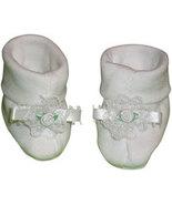 Preemie & Newborn Girls White Rose Booties - $10.00