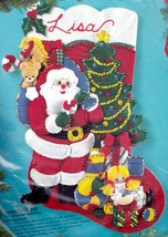 Bucilla Christmas Eve Santas Delivery Toys Gifts Holiday Felt Stocking K... - $62.95