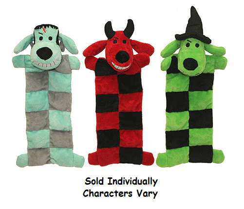 Primary image for Dog Toys Halloween Loofa Squeaker Mat Assorted Devil Witch or Monster Characters