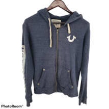 True Religion Hoodie Full Zip Blue Mens Medium * - $39.59
