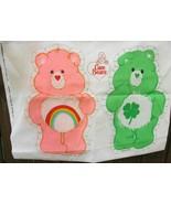 Two Care Bear Doll Fabric Panels Cheer Good Luck Bears - $24.00