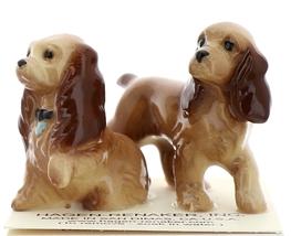 Hagen-Renaker Miniature Ceramic Dog Figurine Don Winton Cocker Mama and Papa Set - $14.96