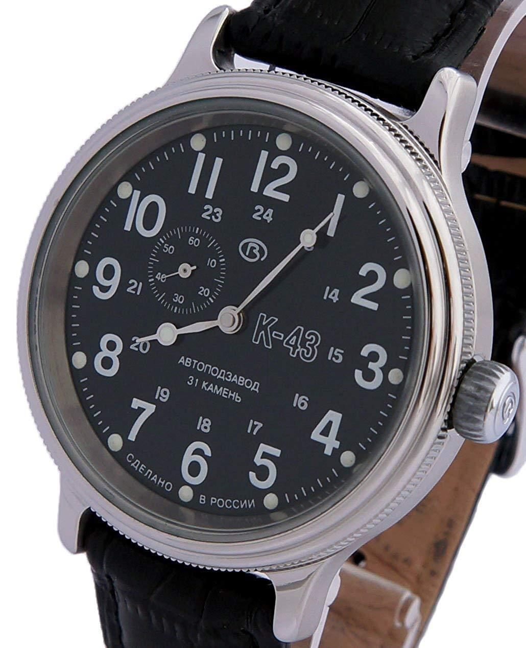 Vostok Retro Kirovskie K43 540854 /2415 Russian Classic Watch Black 1943