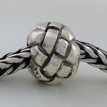Authentic Trollbeads Sterling Silver Plait Bead Charm 11230, New - $30.39