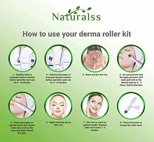 Microneedle Lei Derma Roller and Derma Pen Best Kit of 0.3mm titanium micro need