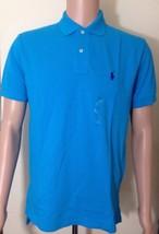 RALPH LAUREN Maglietta Polo da uomo taglio classico X PICCOLE BLU BRILLANTE - $52.88