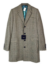 Holland Esquire check wool long coat - $191.62
