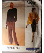 Vintage Vogue Pattern 2355 Jacket, Skirt & Pleated Pant 12,14,16 by Anne... - $5.00