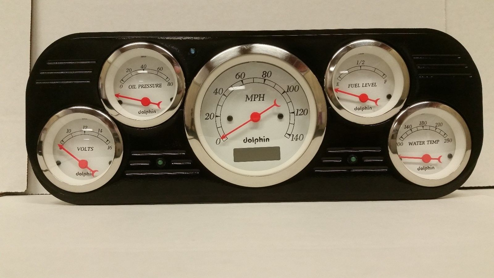 1937 1938 FORD TRUCK GAUGE CLUSTER WHITE