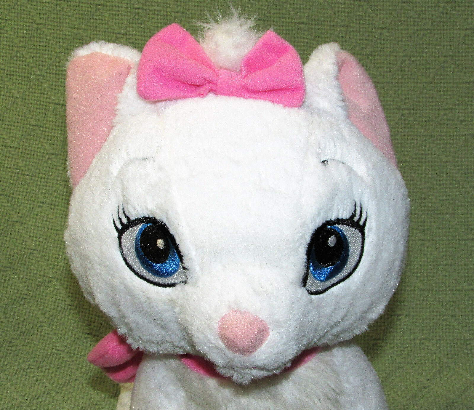 "12"" Disney Store MARIE Aristocats SILVER MICKEY Plush Stuffed Cat Kitten Animal"