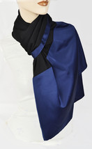 New STYLE&CO Chiffon & Charmeuse Special Occasion Wrap Womens Scarf Blac... - €8,26 EUR