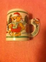 TEDDY BEAR  COFFEE MUG / CUP--HOLIDAY---CHRISTMAS----FREE SHIP--VGC - $12.69
