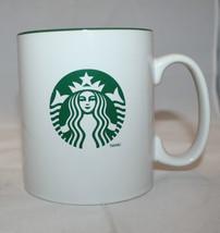 Starbucks Coffee 2012 Large White Green Coffee Tea Mug Cup 558 ml Mermai... - $23.89