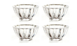 Dollhouse Miniatures 1:12 Scale 4PC SMALL CLEAR BOWLS SET #G7438 - $2.77