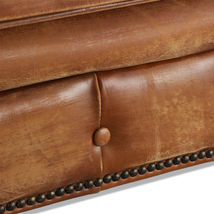 MarquessLife Handmade Tufted Couch Chesterfield Style Aged Leather Single Sofa image 4