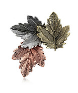 Lovely Vintage Look Maple Leaf Brooch Broach Suit Coat Pin Exquisite Col... - $12.95