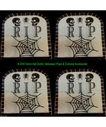 Haunted House-RIP TOMBSTONE CHAIR COVERS-Over the Hill Birthday Decorati... - $8.52
