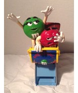 M&M's Wild Thing Roller Coaster Candy Dispenser Red Green - $9.74