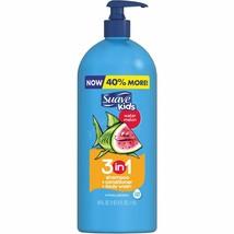 Suave Kids Watermelon 3 in 1 Shampoo Conditioner and Body Wash, 40 fl oz - $7.64
