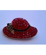 Scarlett Ohara Red Hat Brooch Pin  - $29.97
