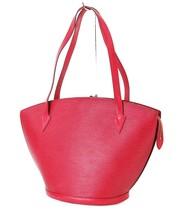 Auth LOUIS VUITTON Saint Jacques Large Red Epi Leather Shoulder Bag #32713 - $329.00
