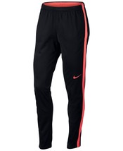 Nike Womens Academy Dri-Fit Soccer Pants Black/Bright Mango Size Small - $42.75