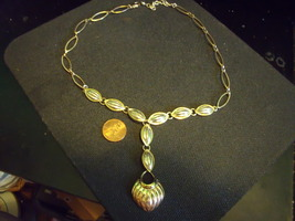 Necklace Two Tone Y Fashion Necklace adjustable with lobster claw clasp - $28.00