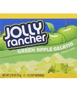 JOLLY RANCHER Green Apple Gelatin Jello 2.79 oz (Pack of 4) - $10.38