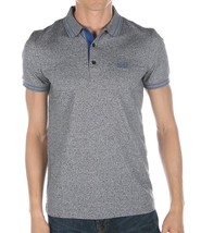 Hugo Boss Men's Slim Fit Premium Cotton Polo Shirt T-Shirt Gray/Blue 50315606