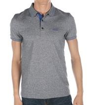 Hugo Boss Men's Slim Fit Premium Cotton Polo Shirt T-Shirt Gray/Blue 50315606