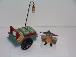 "Dept 56 Dickens Village accessories""Chelsea Market Fish Monger & Cart""-MIB - $15.83"